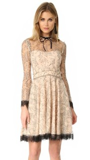 Расклешенное мини-платье из французского кружева Nicholas