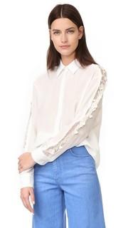Блуза на пуговицах Rochas