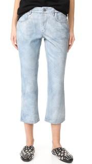 Слегка расклешенные кожаные брюки Alexander Wang