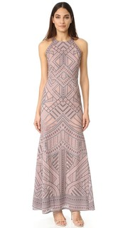 Сетчатое вечернее платье со вставками Bcbgmaxazria