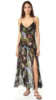 Платье-комбинация с тропическим принтом Fleur du Mal