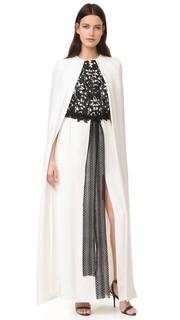Длинное вечернее платье Monique Lhuillier