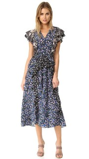 Платье с лоскутным принтом Rebecca Taylor