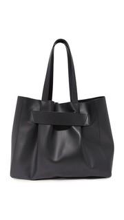 Объемная кожаная сумка с короткими ручками Narciso Rodriguez