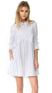 Платье-рубашка с перекрещенной отделкой Bcbgmaxazria