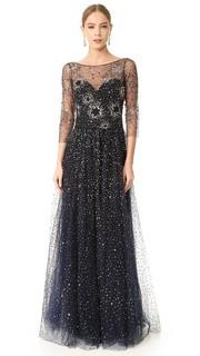Вечернее платье из тюля Marchesa Notte