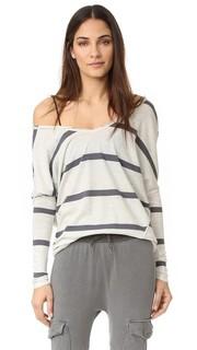 Пуловер в полоску с воротником-стойкой Free People