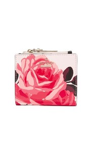 Небольшой кошелек на молнии с розами Kate Spade New York