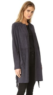 Замшевая куртка с бахромой Meteo by Yves Salomon