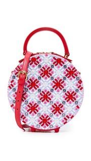 Круглая сумка Coco с вышивкой и кристаллами Сваровски Mayra Fedane