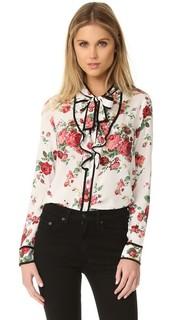 Блуза с цветочным рисунком и завязками на шее Re:Named