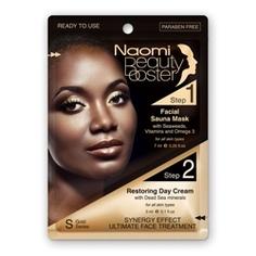 NAOMI Комплексный уход за лицом: маска с эффектом сауны и дневной крем с коллагеном 7 мл + 3 мл