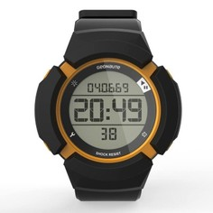 Часы Спортивные Противоударные W700xc М Swip, Черные И Оранжевые Geonaute
