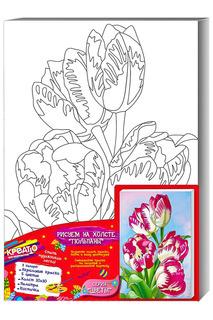 Роспись по холсту «Тюльпаны» Креатто