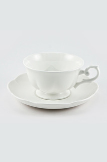 "Чайная пара 180 мл ""White"" Royal Bone China"