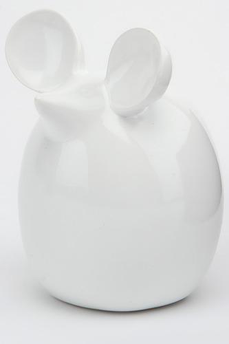 Статуэтка Мышь белая 14х11 Home Visage