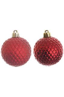 Шар новогодний, 6шт, 6 см Monte Christmas