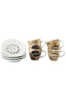 Набор кофейный на 4 персоны Русские подарки