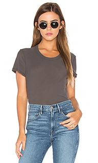 Полушерстяная футболка с круглым вырезом - James Perse