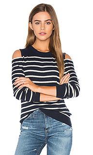 Cold shoulder stripe sweater - Autumn Cashmere