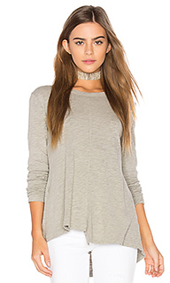 Slub layered open back tee - Wilt