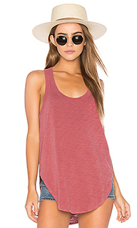 Slub shrunken shirttail tank - Wilt