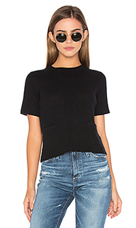 Ribbed boxy tee - Autumn Cashmere