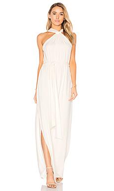 Sleeveless knot drape neck gown - Halston Heritage
