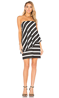 Strapless tiered drape stripe dress - Halston Heritage