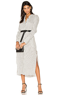 Pinstripe maxi shirt dress - Halston Heritage