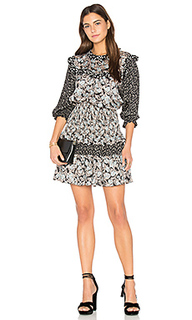 Long sleeve bijou patch dress - Rebecca Taylor