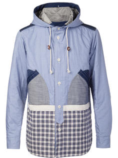 лоскутная куртка с капюшоном Junya Watanabe Comme Des Garçons Man