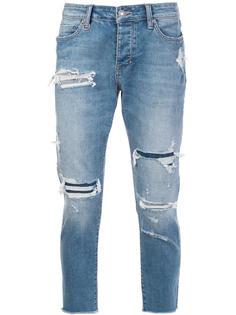джинсы с потертой отделкой Neuw