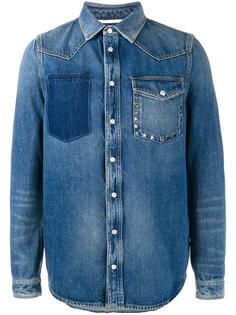 джинсовая рубашка с потертой отделкой Valentino