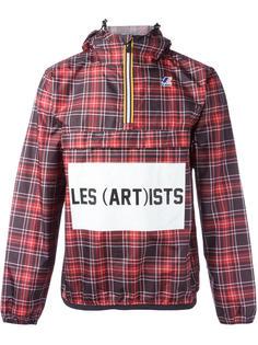 куртка в клетку с принтом логотипа Les (Art)Ists