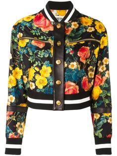 куртка-бомбер с цветочным принтом   Fausto Puglisi