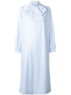 neck tie checked dress Saks Potts