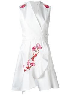 платье с цветочной вышивкой  Carven
