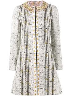 твидовое пальто с вышивкой Giambattista Valli