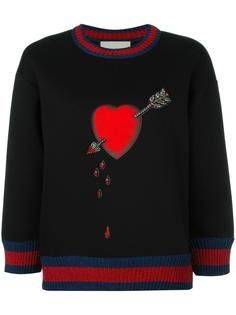 толстовка Heart Gucci