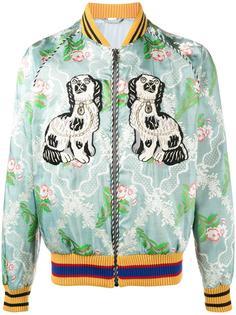жаккардовая куртка-бомбер с вышивкой Gucci