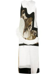 sleeveless contrast panel dress  Anne Sofie Madsen
