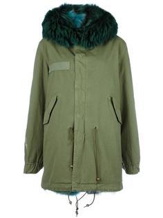 пальто с капюшоном и меховой оторочкой Mr & Mrs Italy