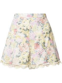 scalloped hem floral shorts Zimmermann
