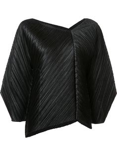 asymmetric neck pleated blouse  Pleats Please By Issey Miyake