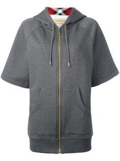 shortsleeved zipped hoodie Burberry