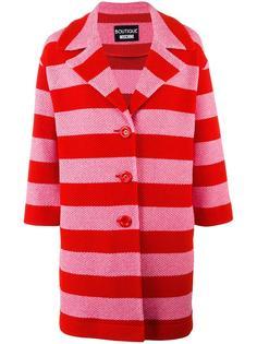 striped coat Boutique Moschino