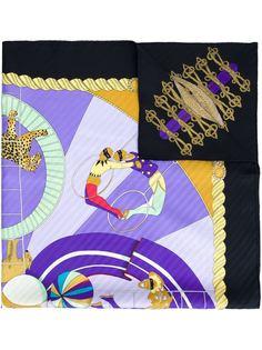 шарф с цирковым принтом  Hermès Vintage