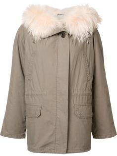 short parka coat Army Yves Salomon