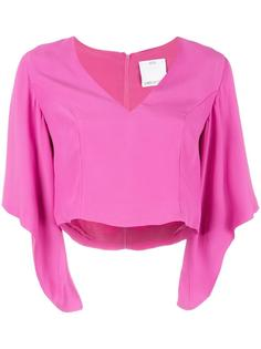 v-neck cropped blouse  C/Meo